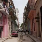 Steet under construction in Havana